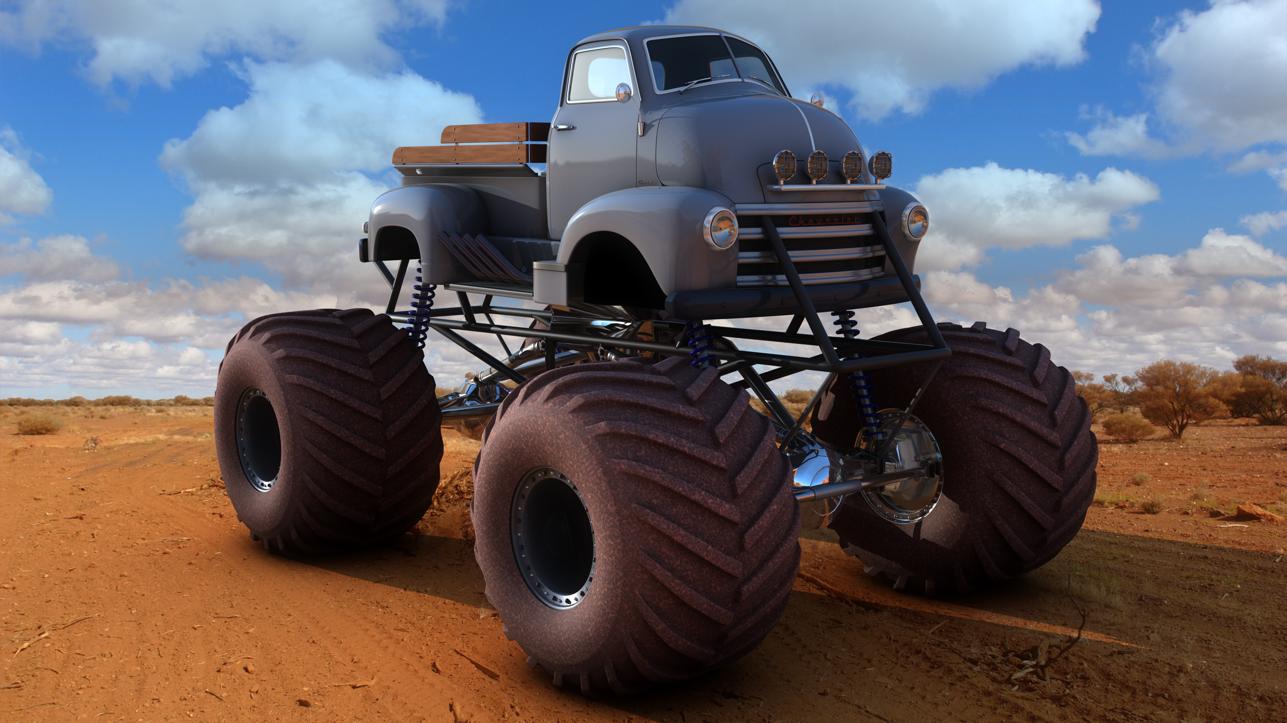 Chevy Coe Monster Truck By Samcurry On Deviantart