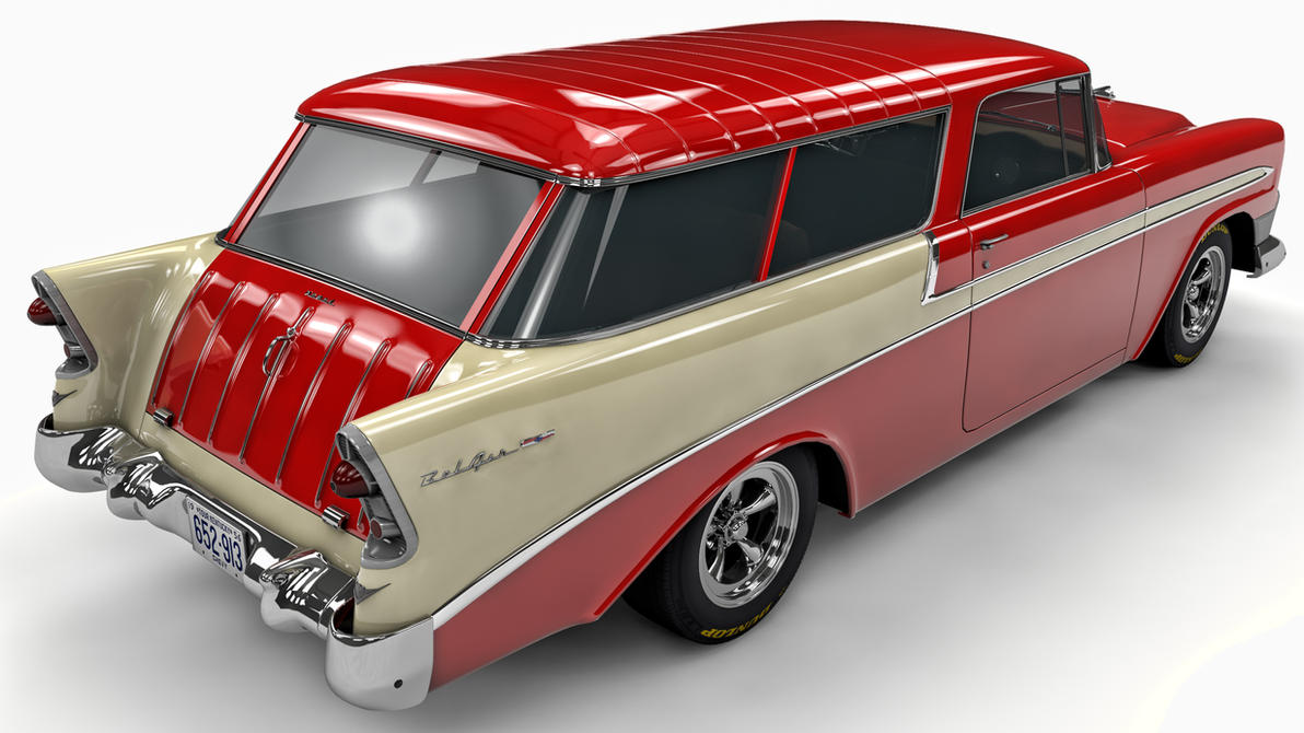 1956 Chevrolet Nomad - interesting paint scheme | Cars and more ...