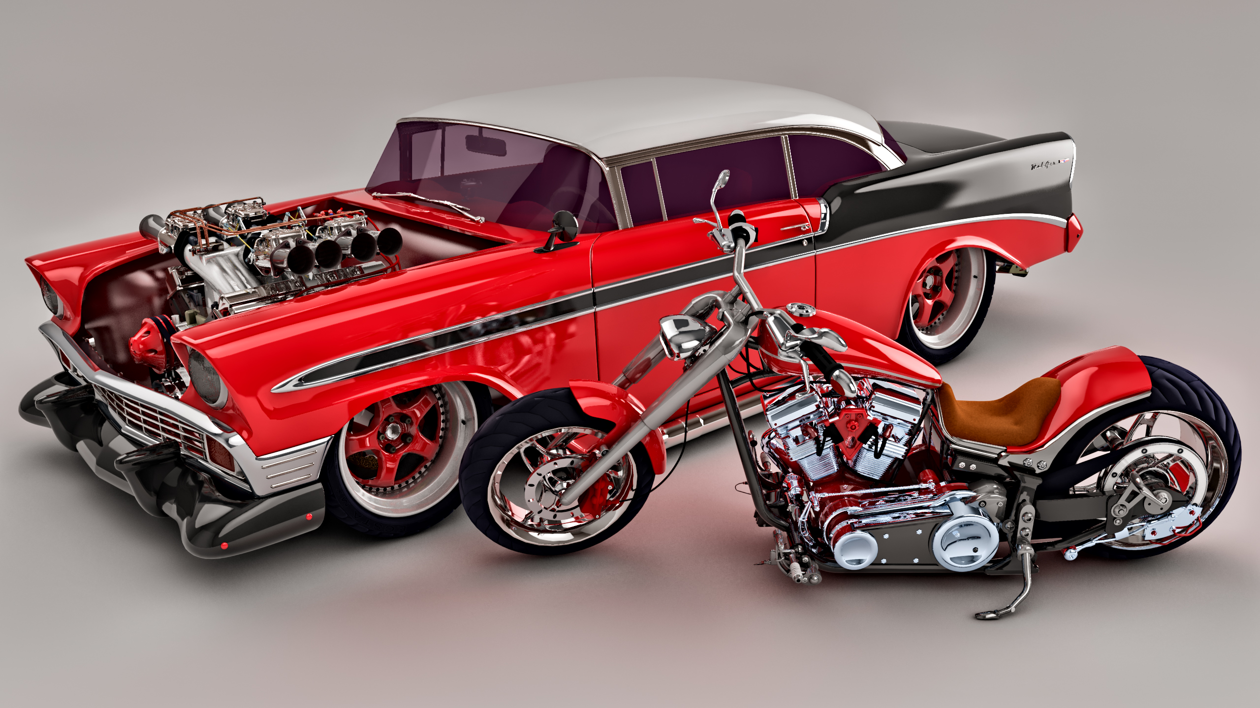 1956 bel air for sale submited images -  1956 Bel Air Custom And Bike By Samcurry