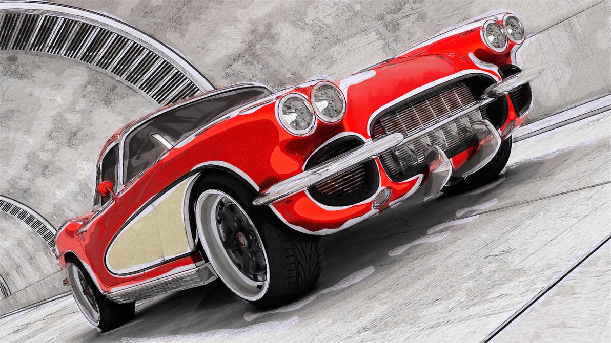 1962 Chevrolet Corvette C1 By Samcurry On Deviantart
