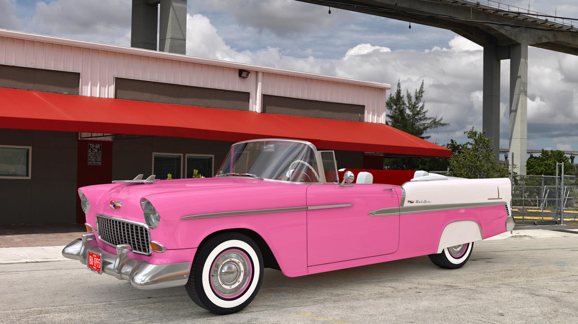 1955 chevrolet bel air convertible by samcurry on deviantart