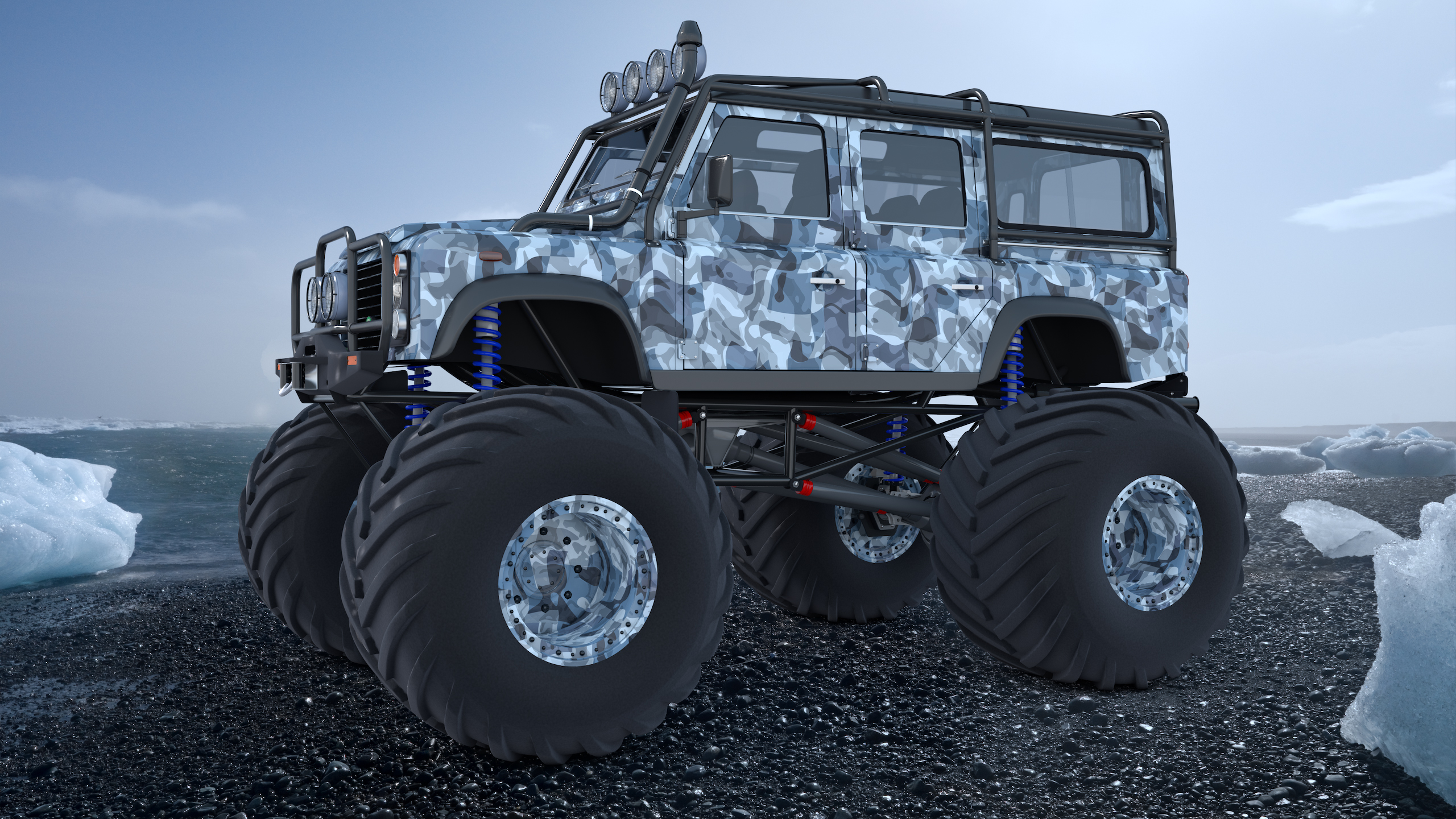Jeep Truck >> Land Rover Defender Expedition by SamCurry on DeviantArt