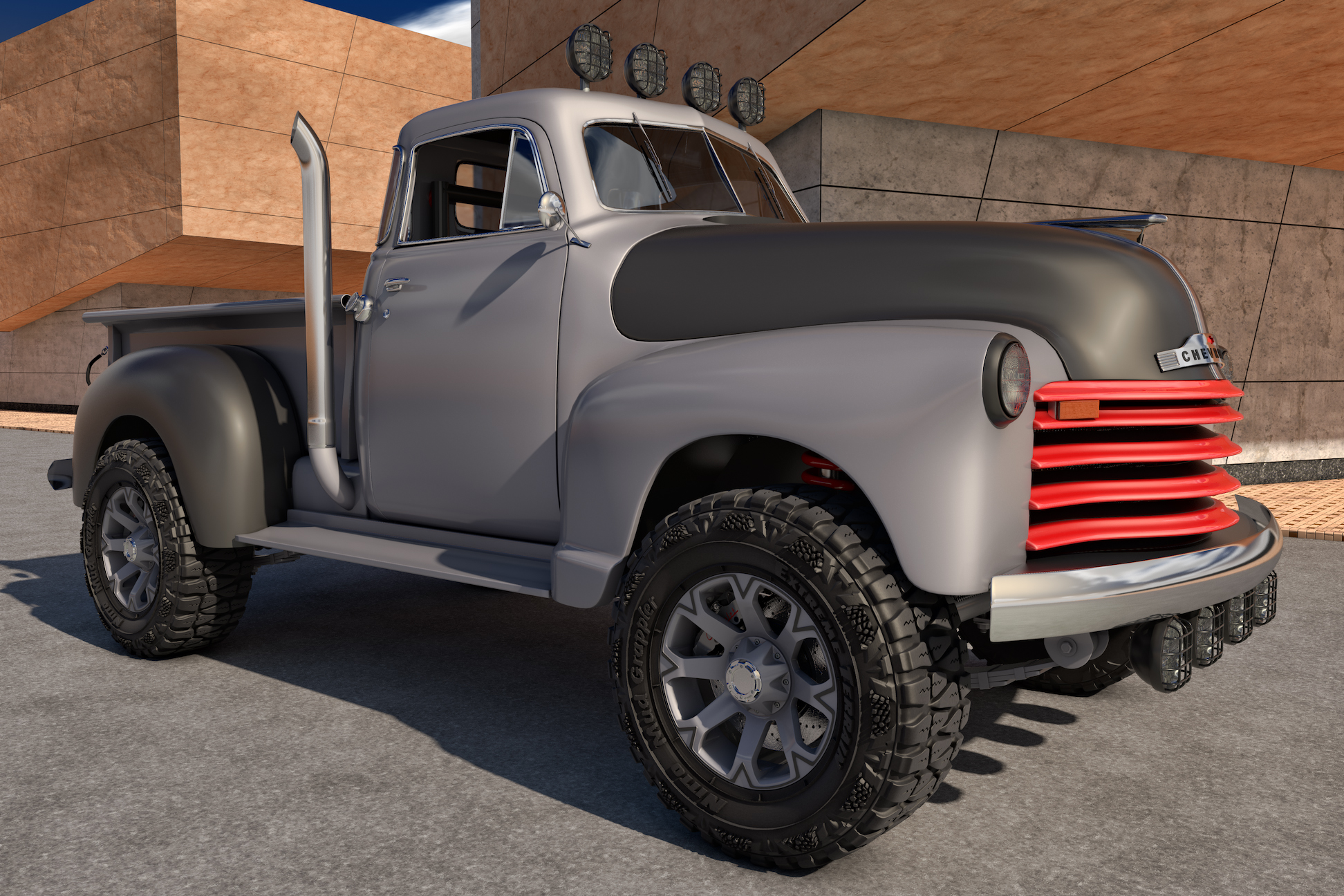 1951 chevy truck 4x4 the image kid has it. Black Bedroom Furniture Sets. Home Design Ideas