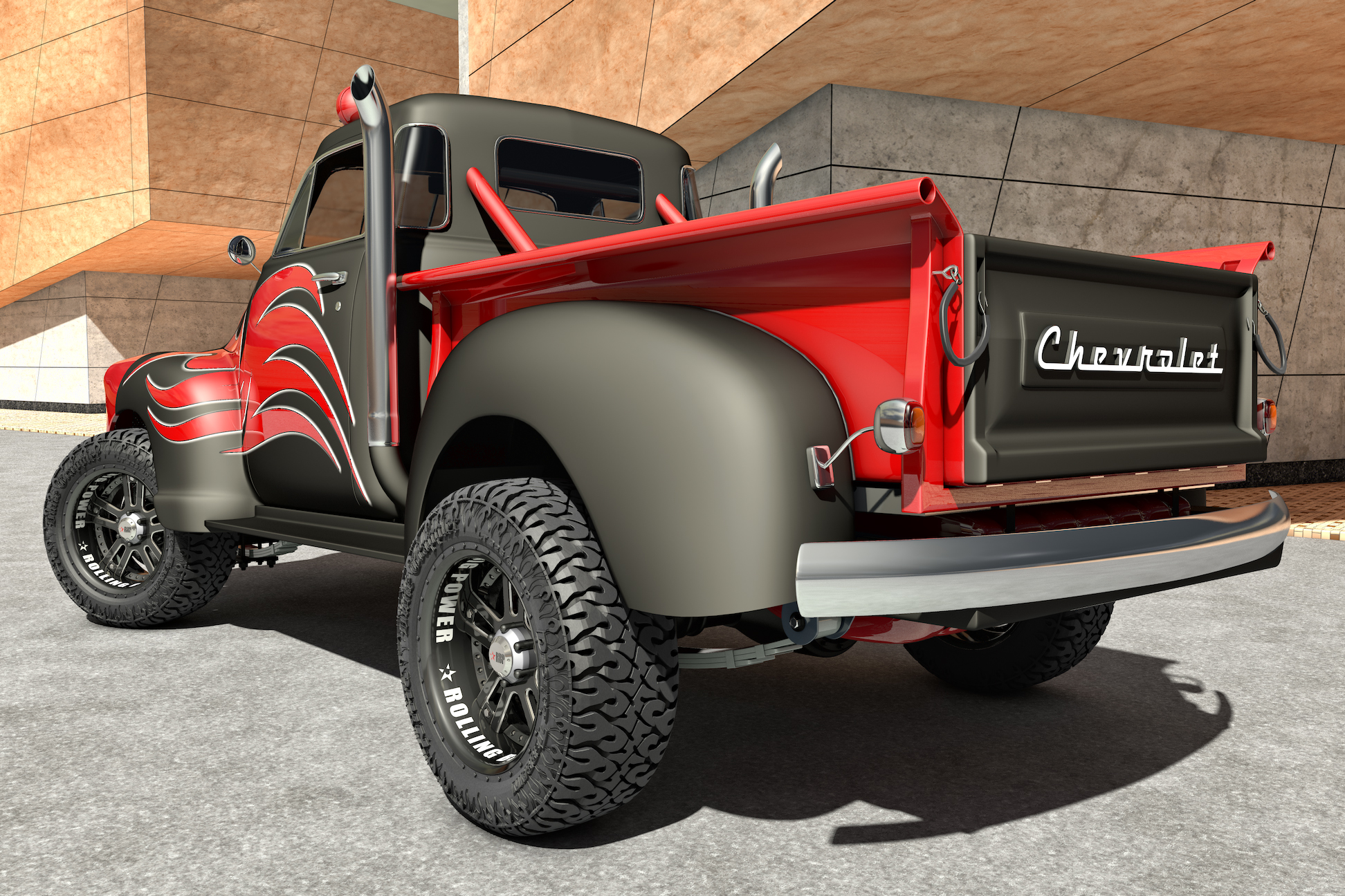 1951 chevrolet pickup 4x4 by samcurry on deviantart. Black Bedroom Furniture Sets. Home Design Ideas