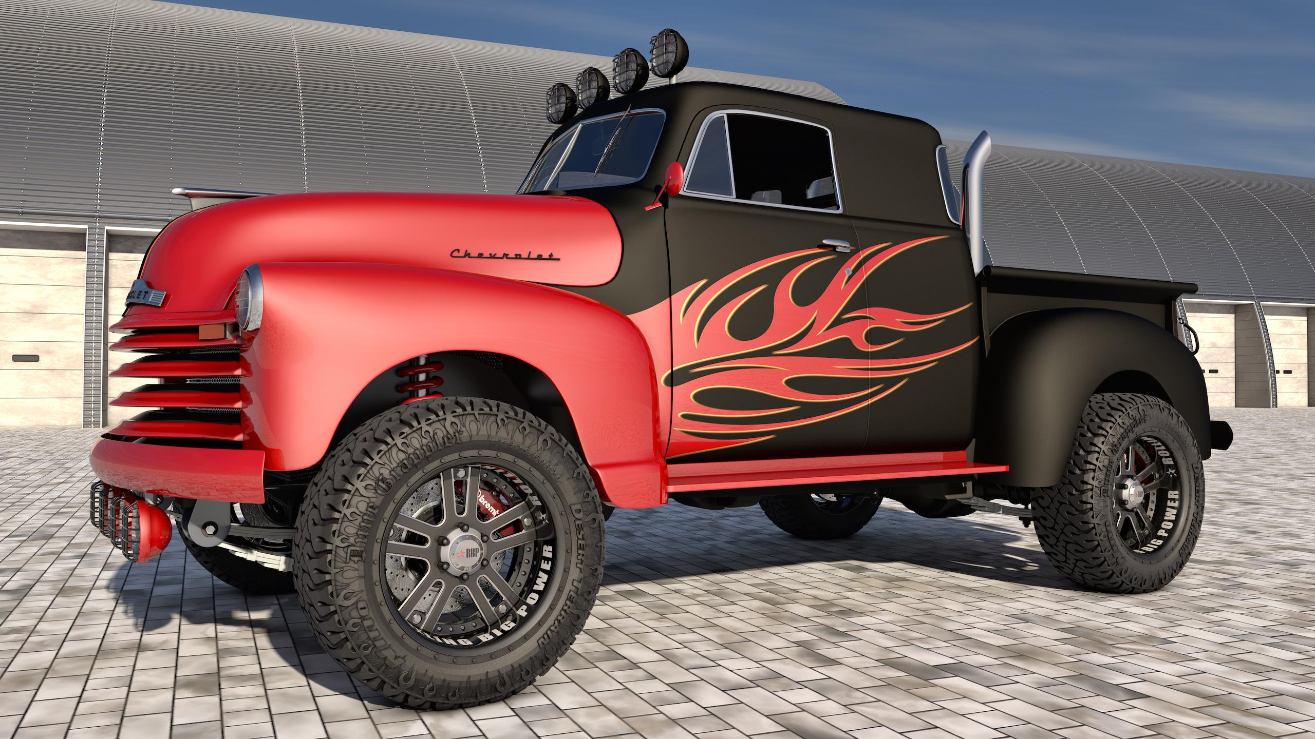 1951 chevrolet pickup 4x4 by samcurry on deviantart. Black Bedroom Furniture Sets. Home Design Ideas
