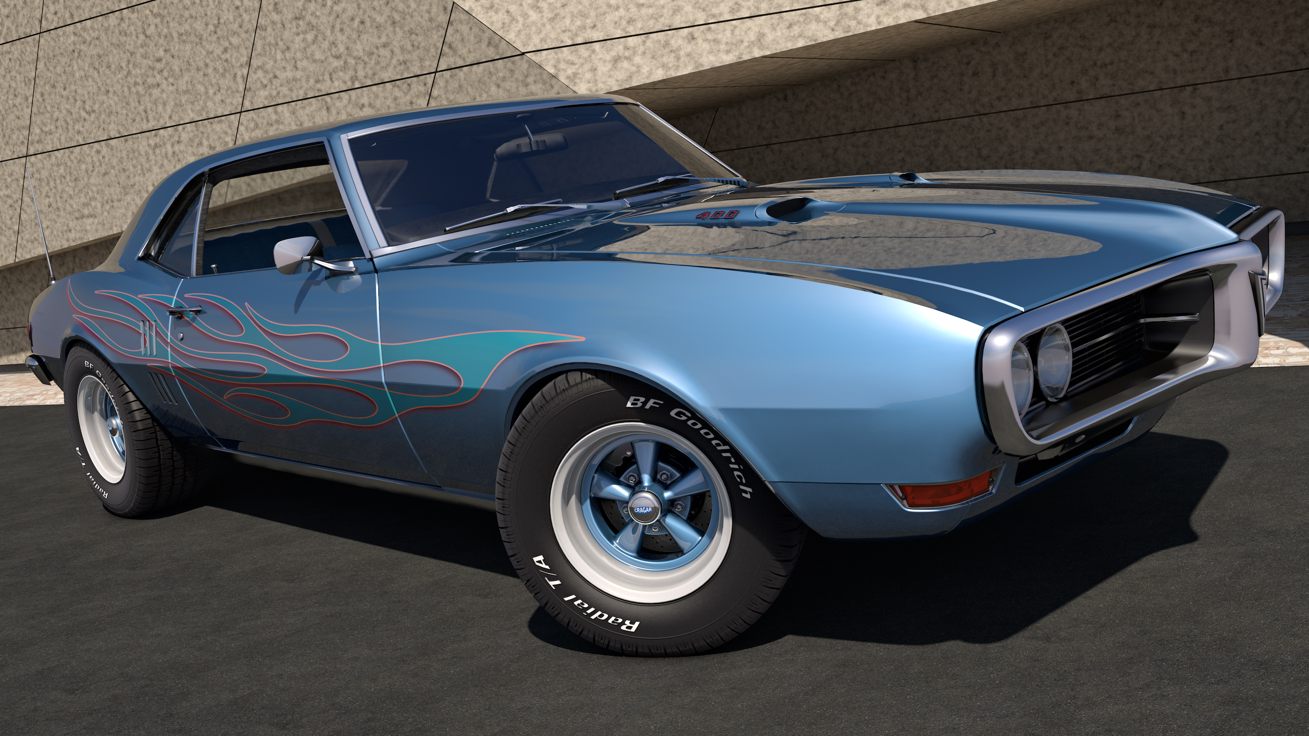 1968 Pontiac Firebird 400 by SamCurry on DeviantArt