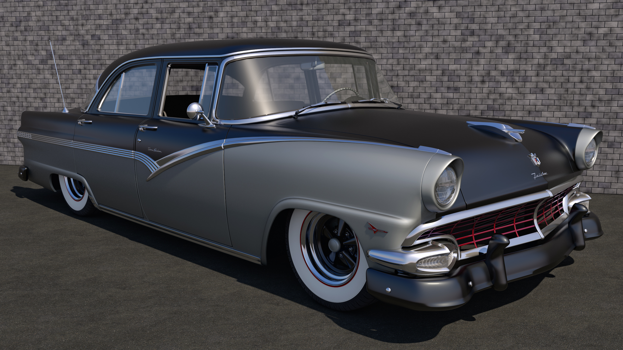 1956 ford fairlane town sedan by samcurry on deviantart for 1956 ford fairlane 4 door