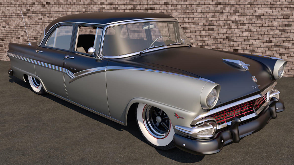 1956 ford fairlane town sedan by samcurry on deviantart for 1956 ford 4 door