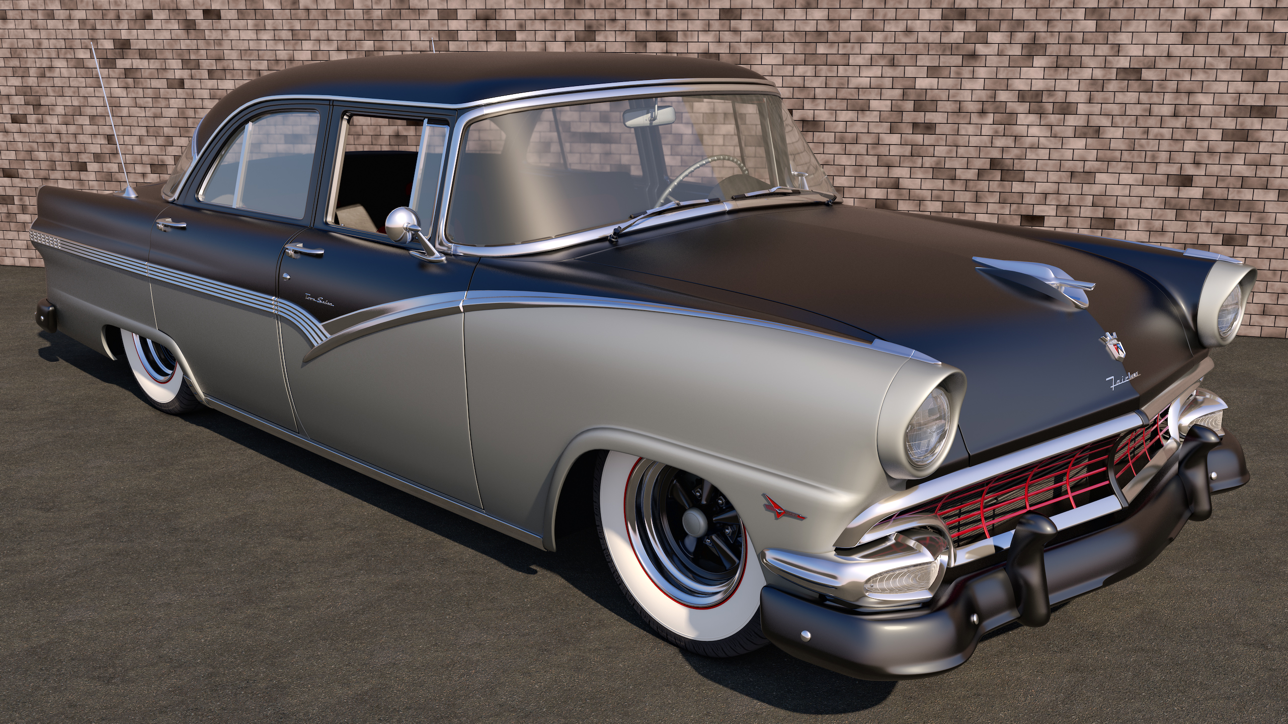 1956 ford fairlane town sedan by samcurry on deviantart. Black Bedroom Furniture Sets. Home Design Ideas