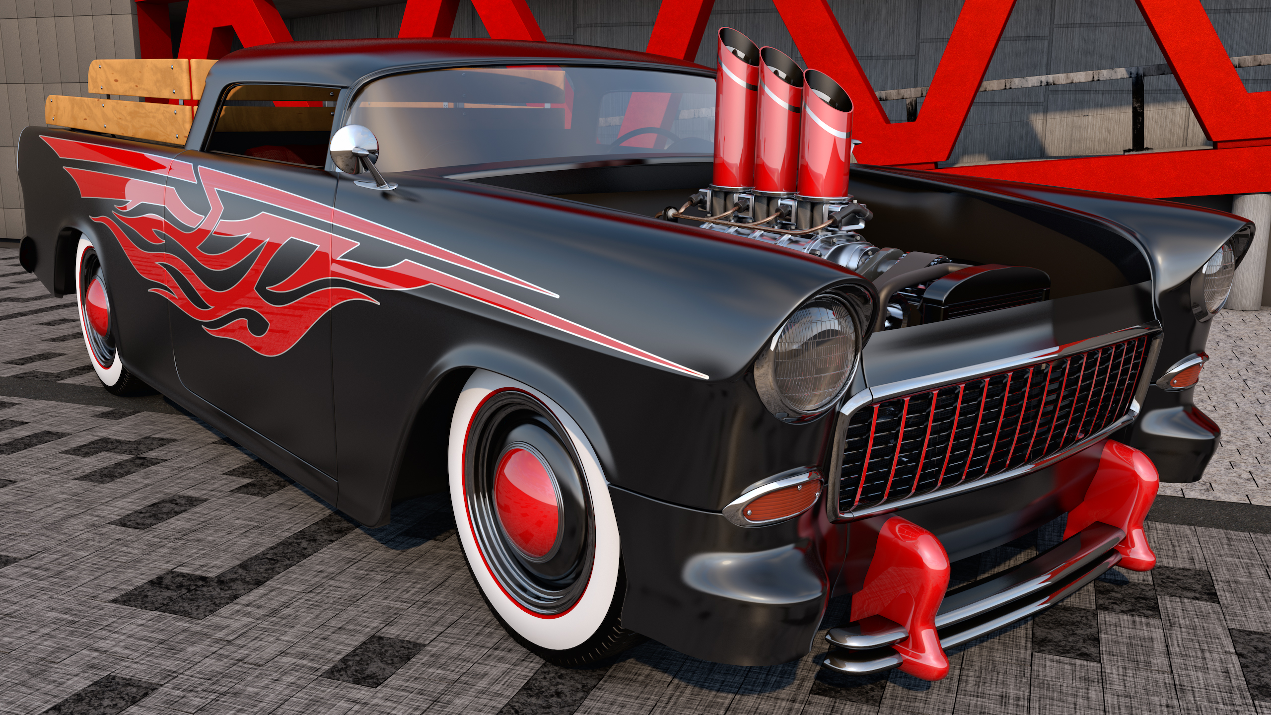 1956 bel air for sale submited images -  1955 Chevrolet Bel Air Nomad Custom By Samcurry