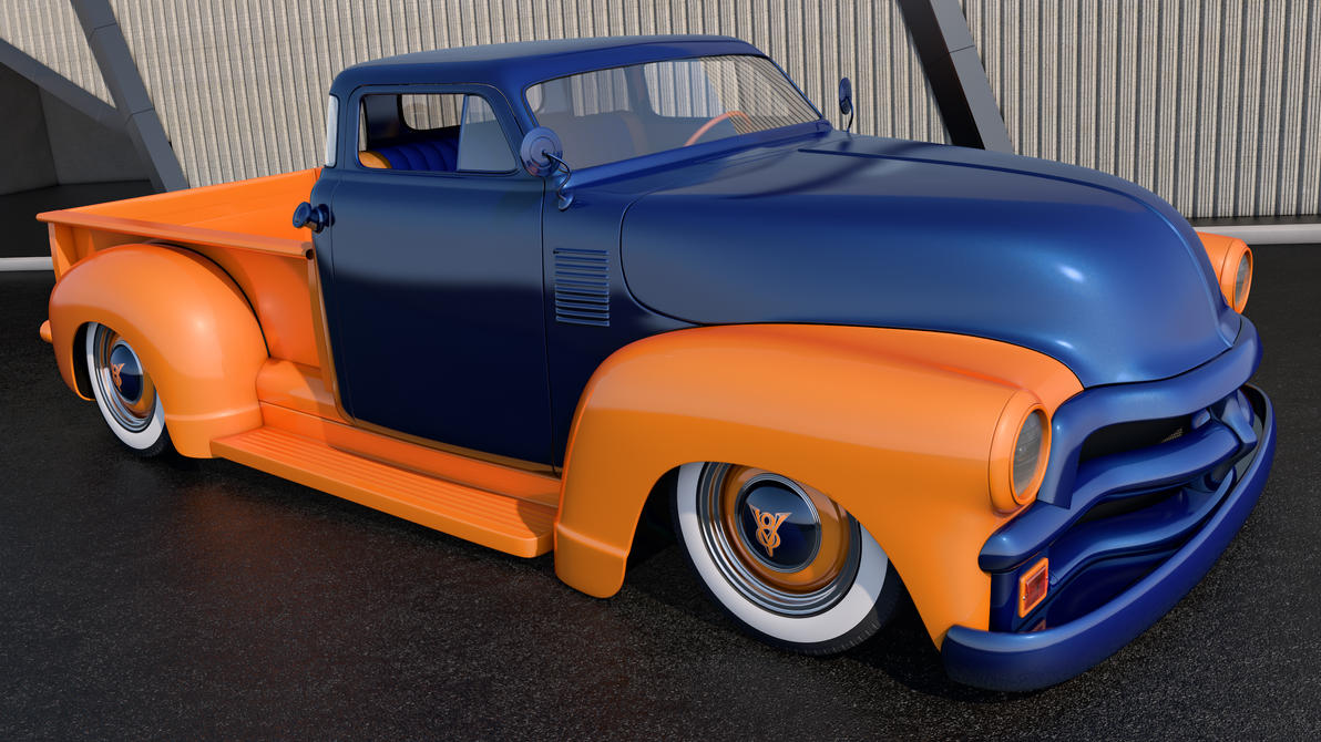 1954 Chevrolet 3100 Pickup by SamCurry on DeviantArt