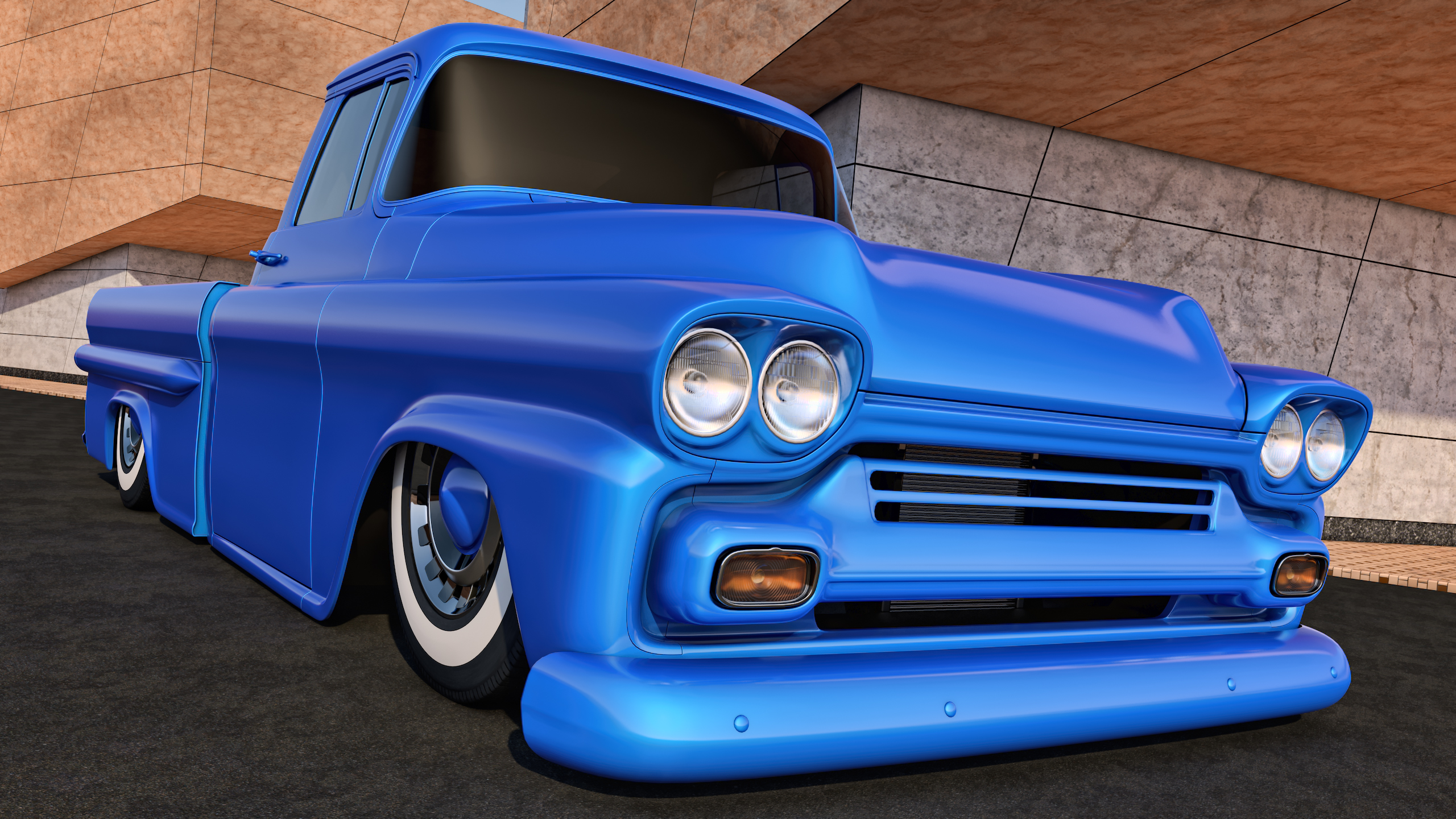 1958 Chevrolet Apache Pickup by SamCurry on DeviantArt