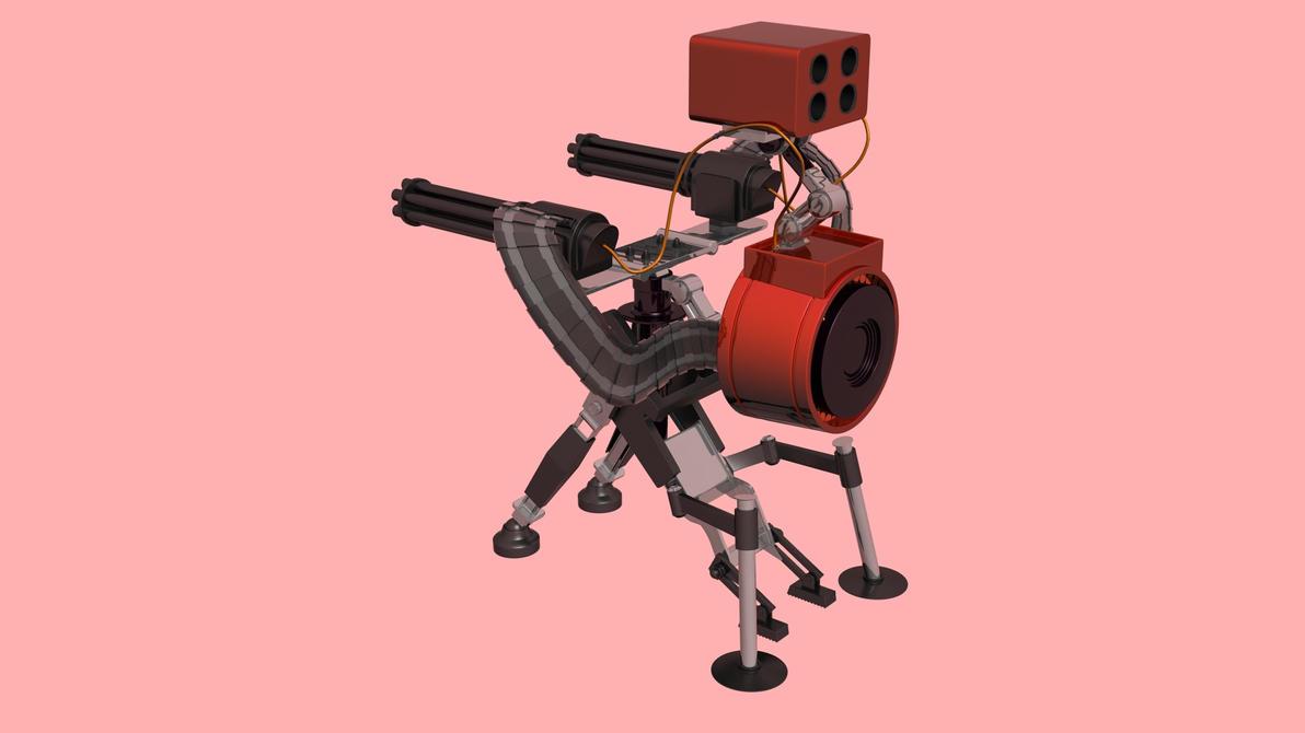 Team Fortress 2: Level 3 Sentry Gun by Cnopicilin