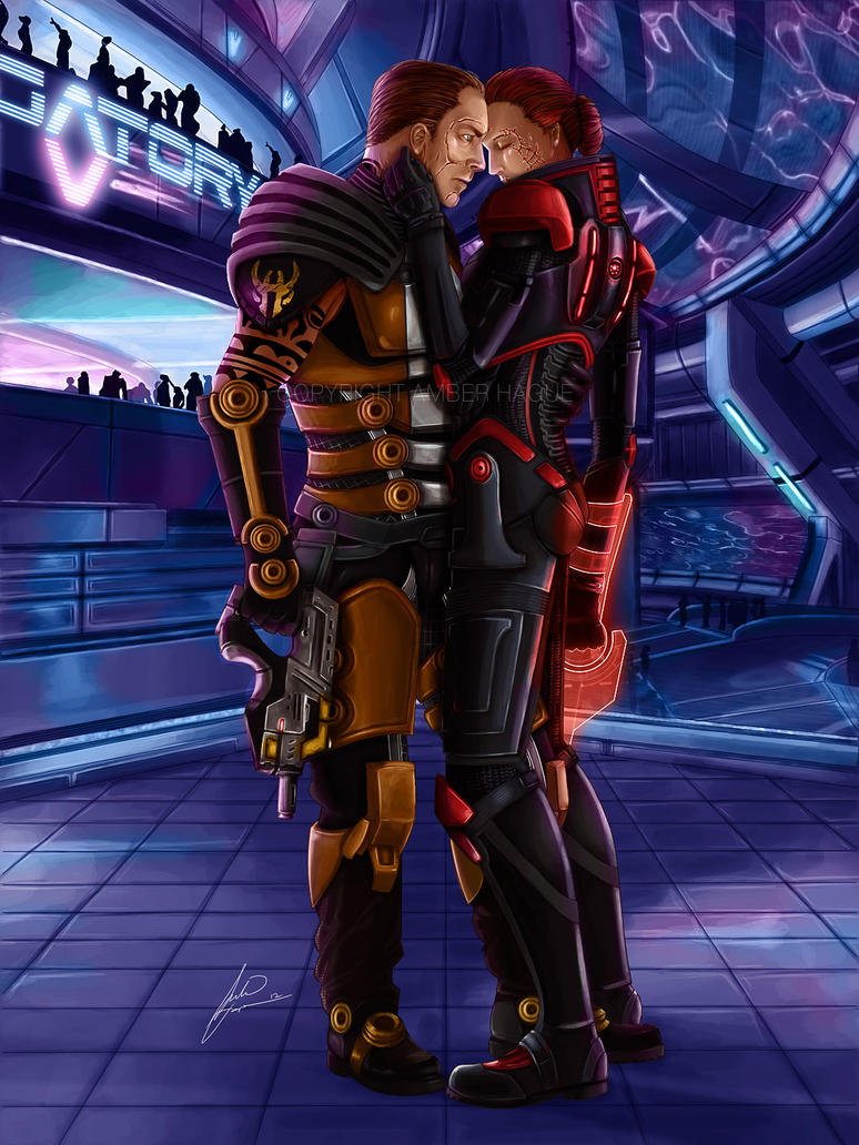 Zaeed meets with Shepard at Purgatory for ME3 by AHague