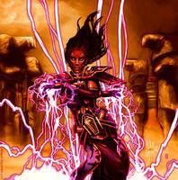 Sith Sorcerer casting Force Storm