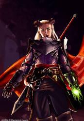 Dragon Age Inquisition - Eva the Qunari warrior by AHague