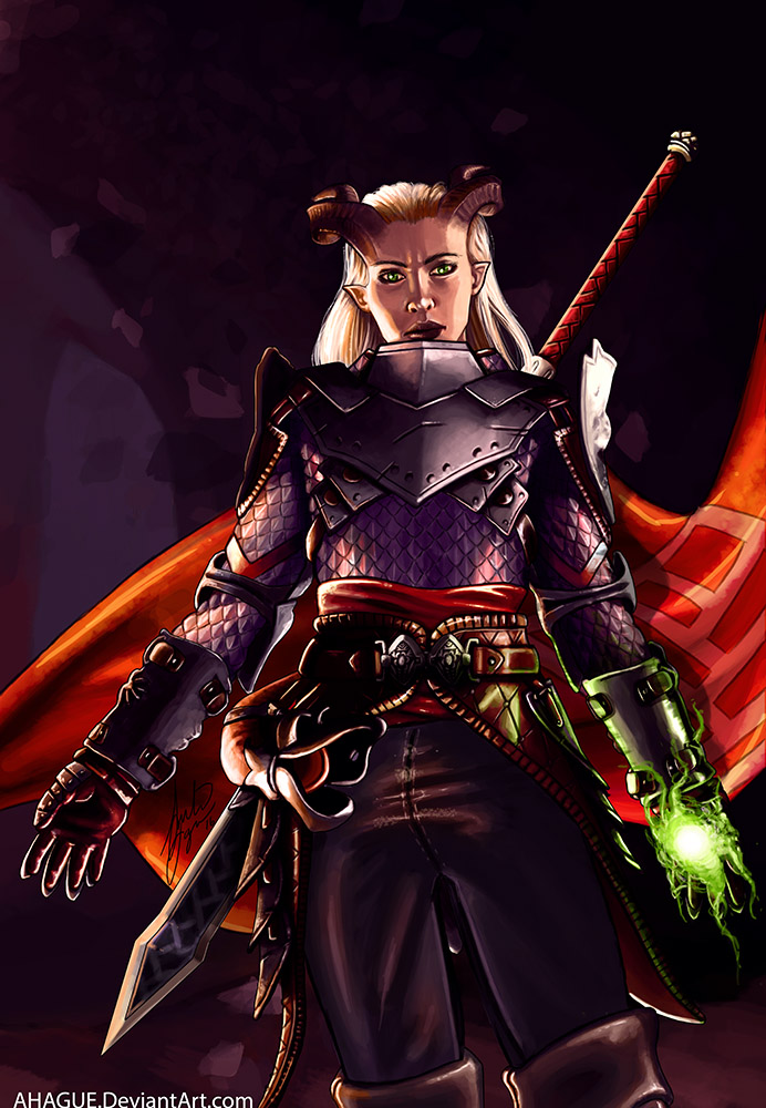 Dragon Age Inquisition - Eva the Qunari warrior by AHague ...