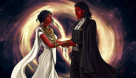 Commision: Tekthon and Harleen Wedding