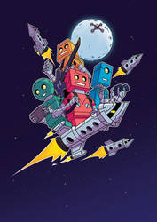 Robots and Rockets Cover by spreston
