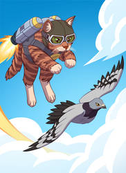 Skyward: Rocket Cat by spreston