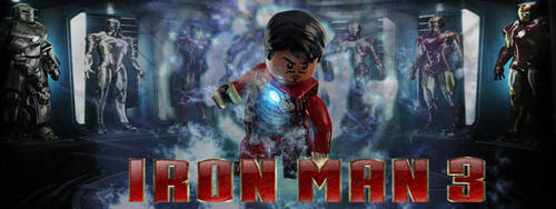 Iron Man 3 Lego Movie CO FB Cover Photo by DeepXC