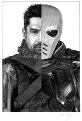 Slade Wilson/Deathstroke Half/Half Graphite by ShayneMurphy