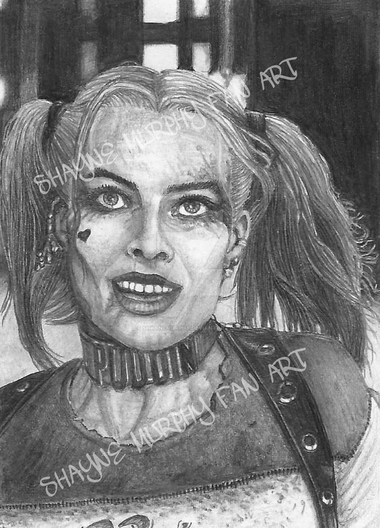 how to draw suicide squad harley