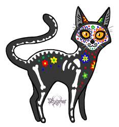 Day of the dead kitty by Stygma