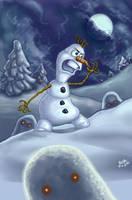 FROZEN -- DARK OLAF ...ahem. Again by resa-challender