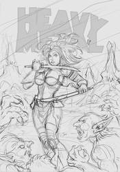 HeavyMetal Blank Cover Pencil by ResaWood