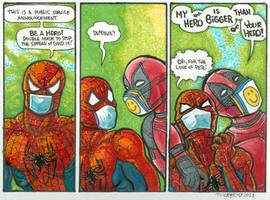 Masked w Spidy Deadpool QTeriSWood March 2021
