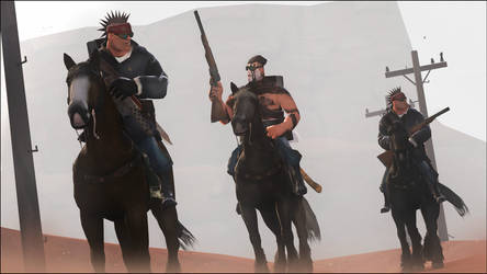 Trackers in the desert by JuavT