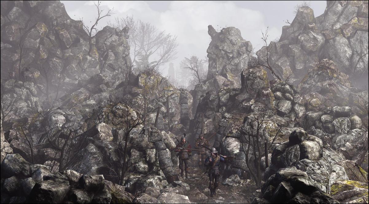 Path amongst stones by JuavT