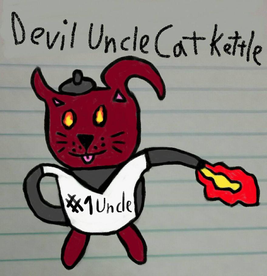 Devil Uncle Kettle Cat by zombiebeast