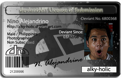 License of Submission