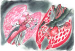 Aelita and her clone by ChornayaDrakoshig