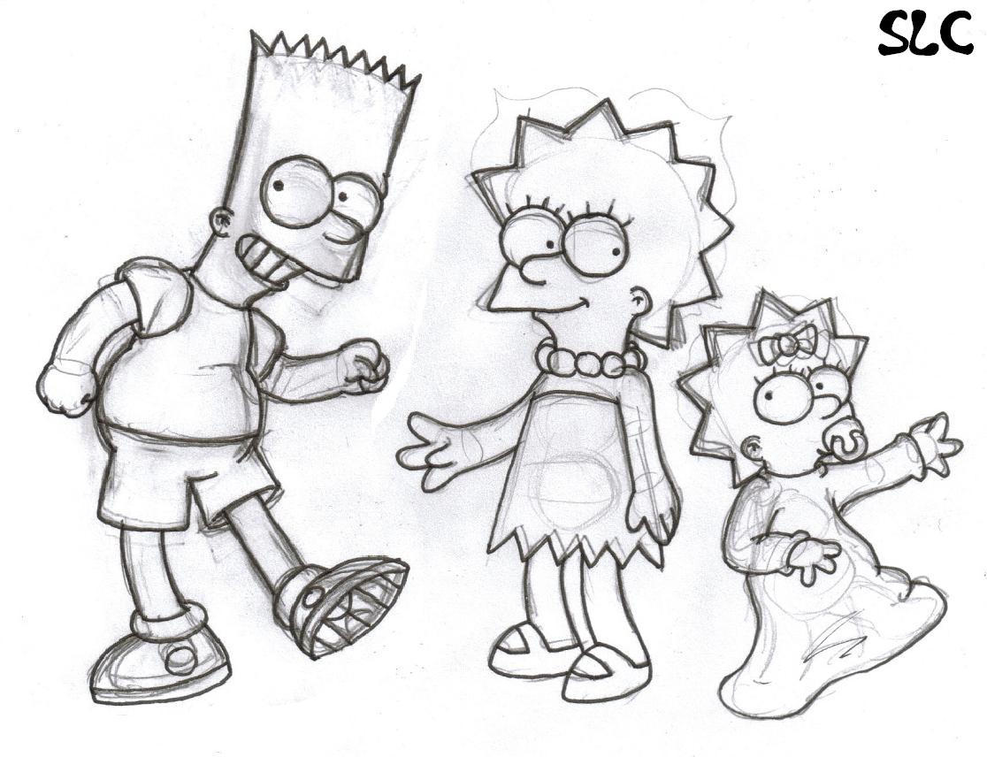 Bart, Lisa and Maggie... by StupidLittleCreature