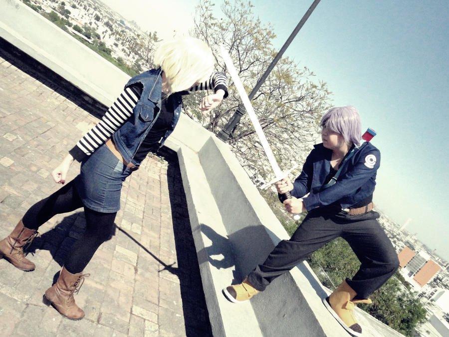 Trunks vs android 18 by nao dignity