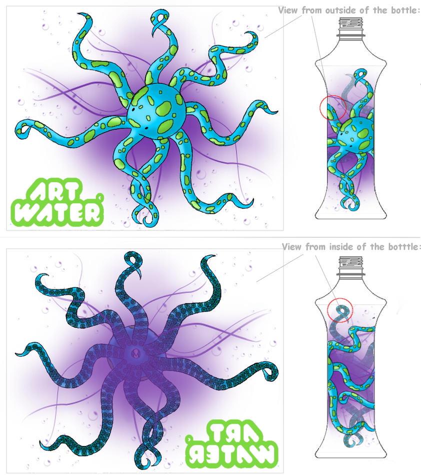 Octopus Bottle by PsychoBoss