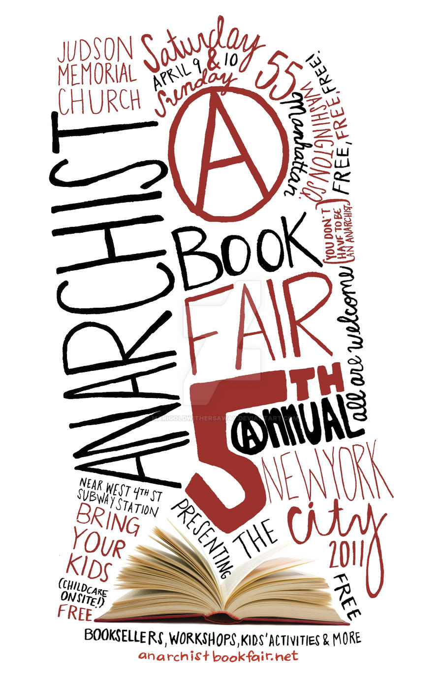 NYC Anarchist Book Fair Poster by marigoldwithersaway on ... |Kitten Book Fair Posters