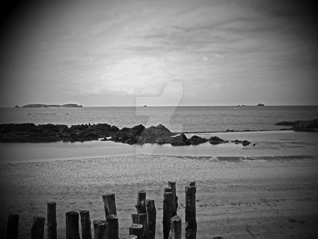 Saint Malo Plage by Werrn
