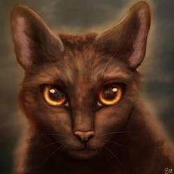 Warrior cat painting