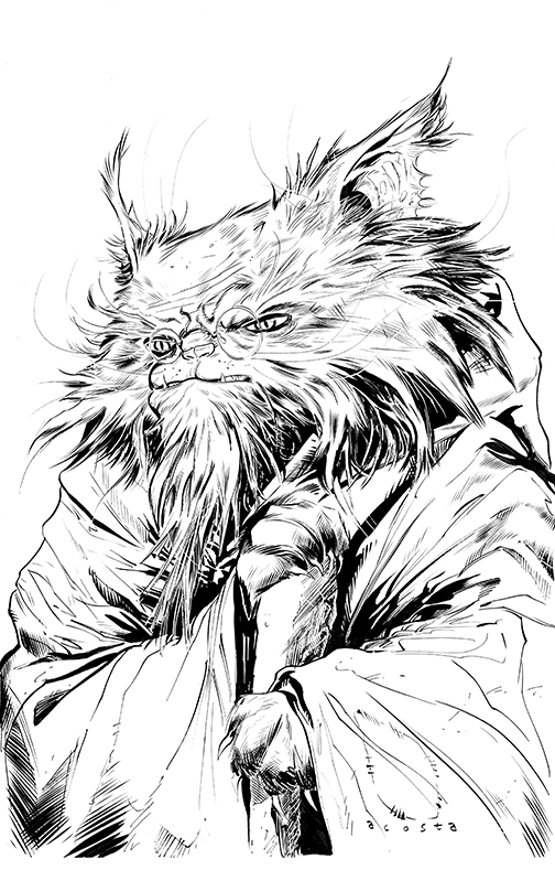 Gnarly Old Wizard Cat by Dave-Acosta