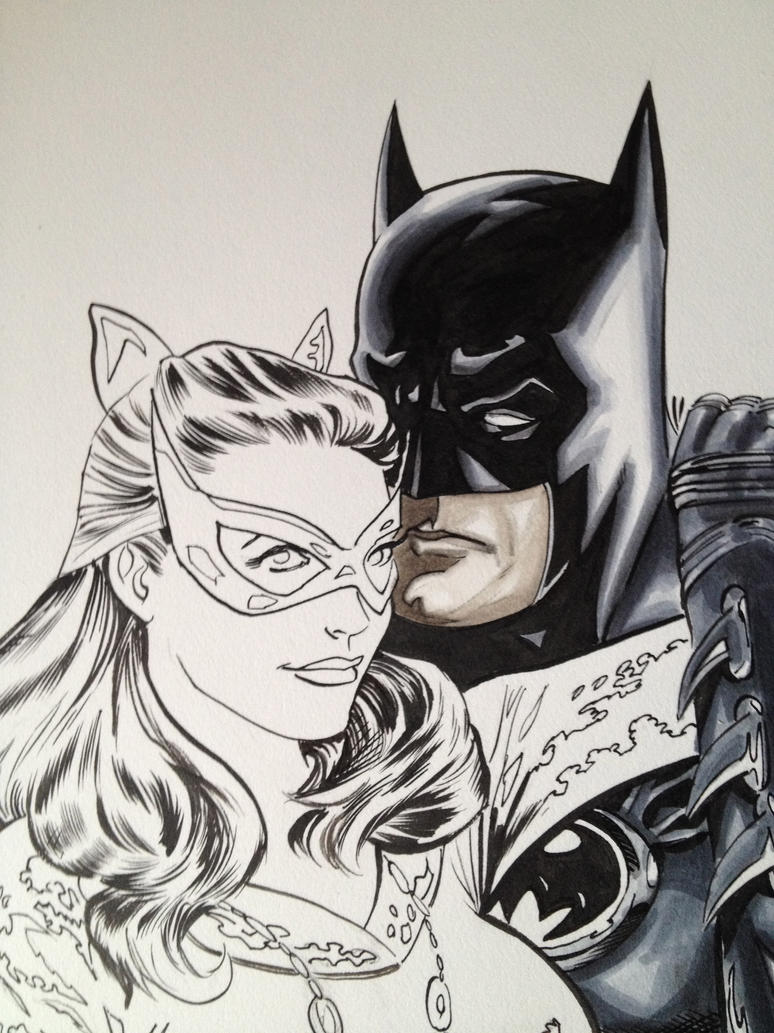 Batman Catwoman Commission WIP by Dave-Acosta on DeviantArt
