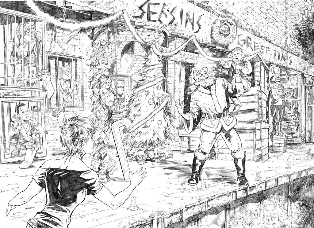 Chastity 6 14 -15 Double Page Spread pencils by Dave-Acosta