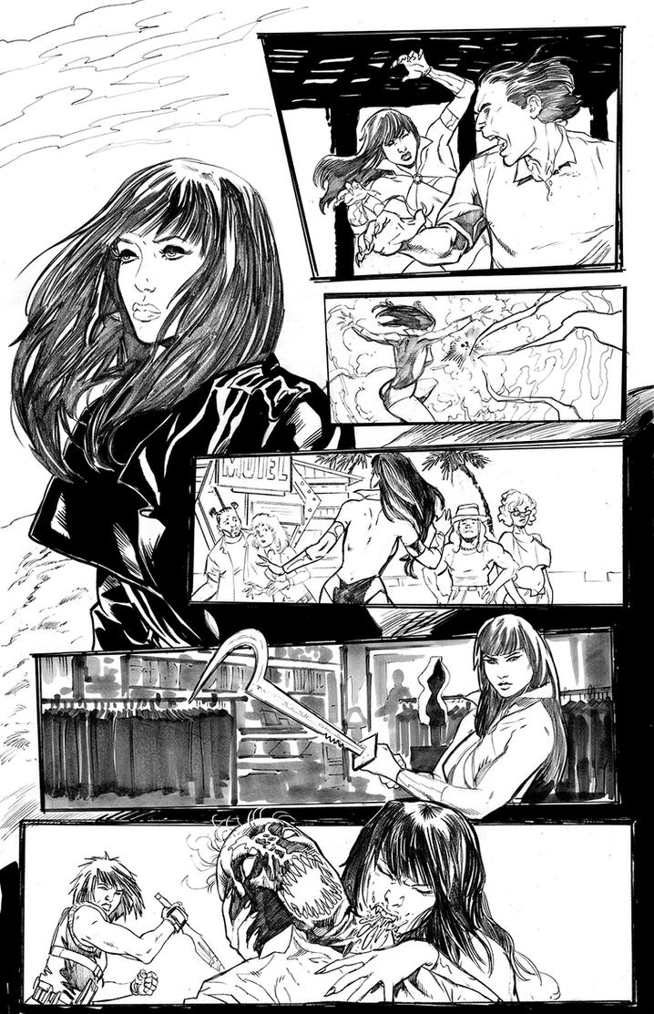 Swords of Sorrow: Vampirella/Jennifer Blood 02 01 by Dave-Acosta