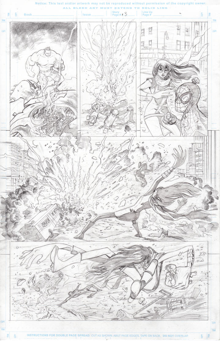 Marvel sample pencils page 3 by Dave-Acosta