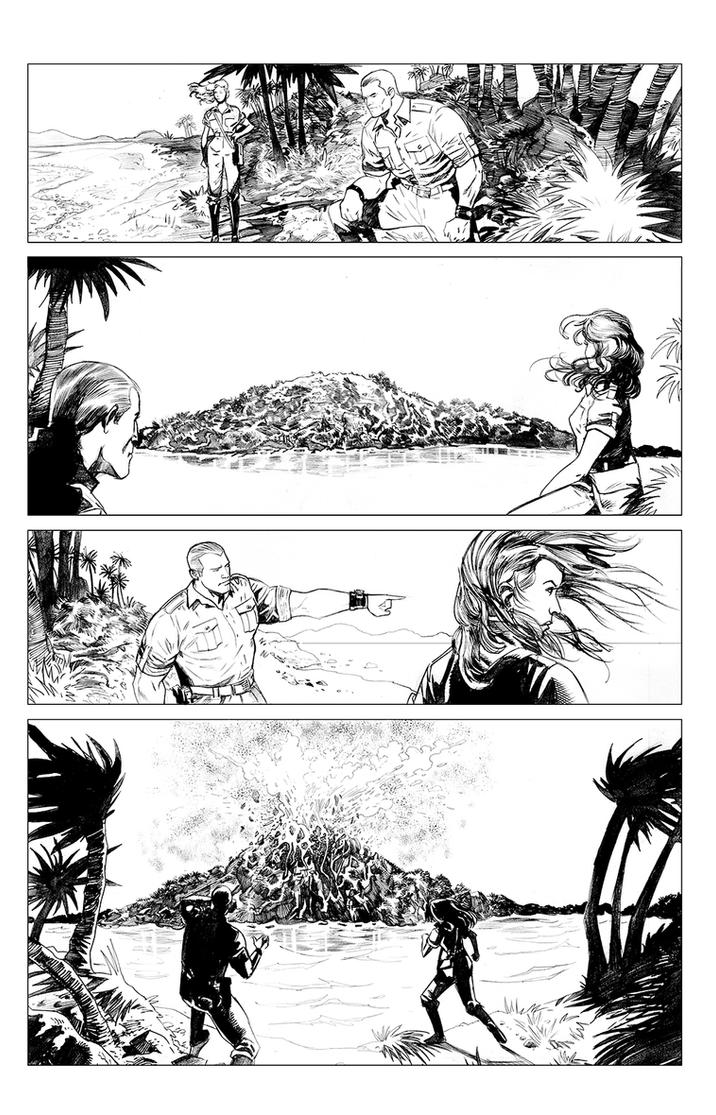 DOC SAVAGE RING OF FIRE 1.1 pencils by Dave-Acosta