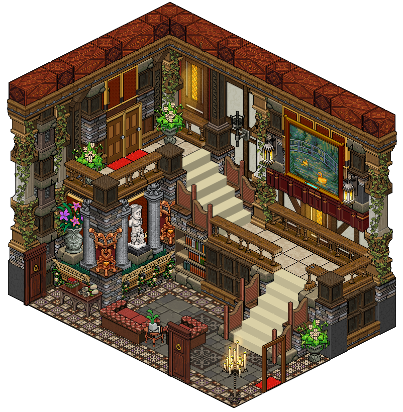 Mansion staircase by cutiezor on deviantart for 8 bit room decor