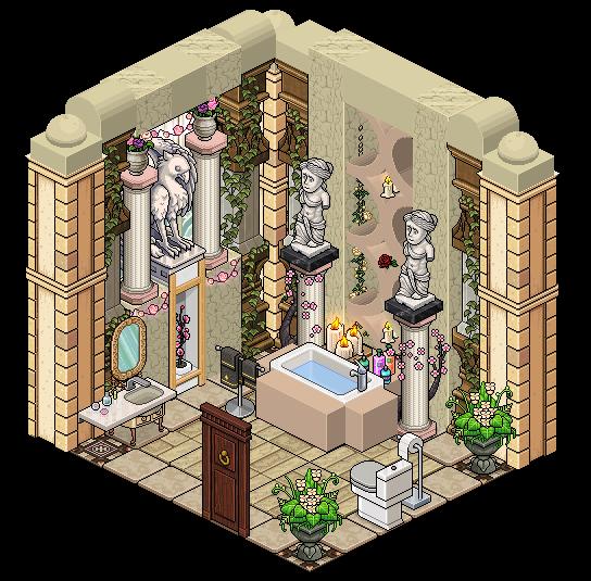 Mansion rosalina bathroom by cutiezor on deviantart for Casa moderna en habbo fantasy